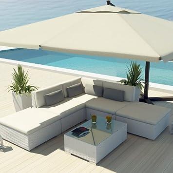 uduka outdoor sectional patio furniture white wicker sofa set porto 6 off white all weather couch - Sectional Patio Furniture