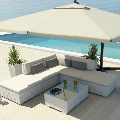 Amazon Com Uduka Outdoor Sectional Patio Furniture White Wicker