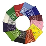 Best Bandanas - 12 Pieces Bandana - HYHP Cowboy Bandana Headscarf Review