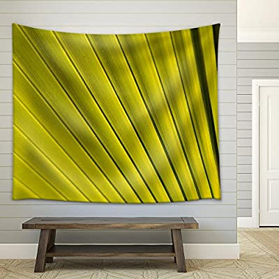 Unbelievable Creative Design, Quality Artwork, Texture of Green Palm Leaf Pattern Backround Fabric Wall