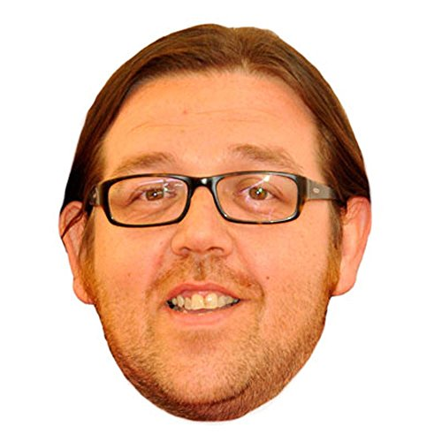Nick Frost Glasses Celebrity Mask, Card Face and Fancy Dress - Glass Contemporary Frost