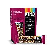 KIND Bars, Raspberry Cashew & Chia, Gluten Free, Low Sugar, 1.4oz, 4 Count