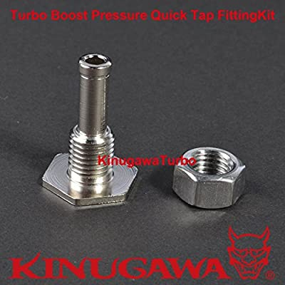 Turbo Boost Pressure Quick Tap Fitting Kit/Pressure Source on Silicon Hose: Automotive