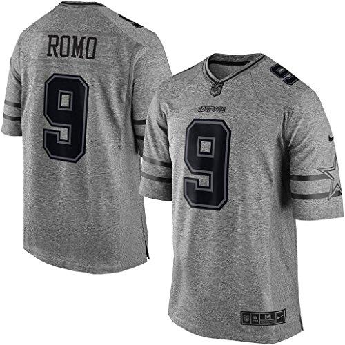 NIKE Men's Dallas Cowboys Tony ROMO Gridiron Gray Limited Jersey ()