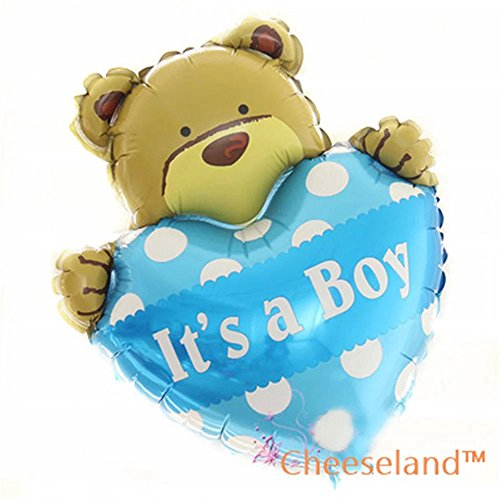 - CheeselandTM-16''Its a boy mylar bear balloon, for baby shower,birthday parties,etc.