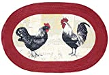 Sweet Home Collection Braided Kitchen Printed Oval Floor Mat, 20'' x 30'', Rooster