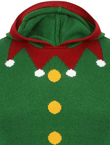 Maglioni Natale Greetings Seasons Elfo Felpa Verde Cappuccio Con Eq8Cnvwp
