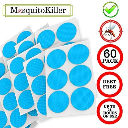 Natural Mosquito Repellent Patches, Deet-Free, for Kids and