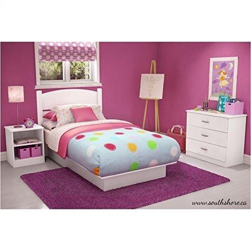 South Shore Libra Bedroom Set in a Box, Twin, Pure White