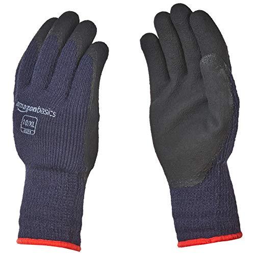(AmazonBasics Foam Latex Coated Winter Gloves, Acrylic Liner Fiber, Touch Screen, Size 8 (M))