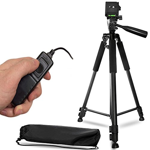 60-Inch-Lightweight-Aluminum-Camera-Tripod-Remote-Shutter-Release-for-Canon-T6i-T6-T6s-T5i-T5-T4i-T3i-T2i-T1i-and-4-inch-mini-tripod-Included-4-Piece-Set