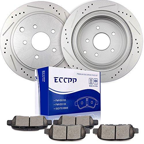 Brakes Quest Nissan - Brake Rotors Brakes Pads Kits,ECCPP 2pcs rear Discs Brake Rotors and 4pcs Ceramic Disc Brake Pads Set for Nissan Murano/Pathfinder/Quest,Infiniti QX70/M37/FX37/Q70/Q50/M56/QX60/JX35/FX35/FX45