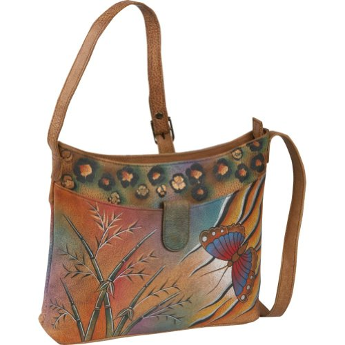 ANNA by Anuschka ANNA by Anuschka Small Shoulder Bag – Jungle Butterfly (Jungle, Bags Central