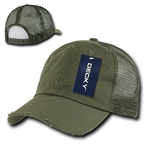 Amazon.com  Vintage Washed Adjustable Mesh Trucker Baseball Cap Hat One  Size Fits Most - Black  Sports   Outdoors 86007b0278a9