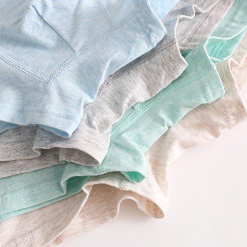 子供服 Fashion Kids Boys Simple Underwear Breathable Cotton Flat Underpants 4 PCS
