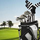LONGCHAO 3 Pcs Knitted Golf Headcover Driver
