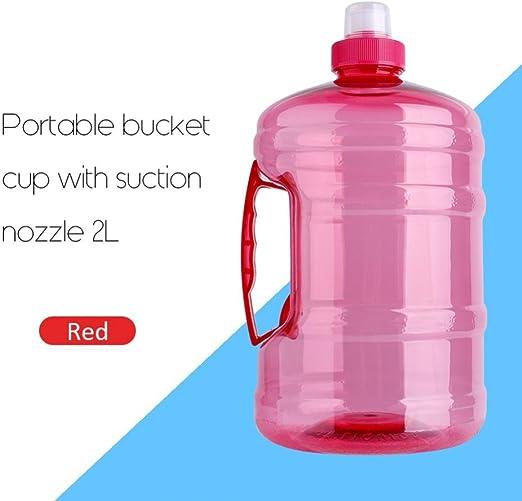 2.2 L grande capacité Sports bouteille d/'eau avec poignée et temps Marqueur Outdoor
