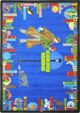Joy Carpets Kid Essentials Language & Literacy Look Into Reading Rug, Multicolored, 5'4'' x 7'8'' by Joy Carpets