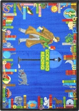 Joy Carpets Kid Essentials Language & Literacy Look Into Reading Rug, Multicolored, 5'4'' x 7'8''