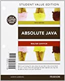 Absolute Java, Student Value Edition, Savitch, Walter and Mock, Kenrick, 0132834235