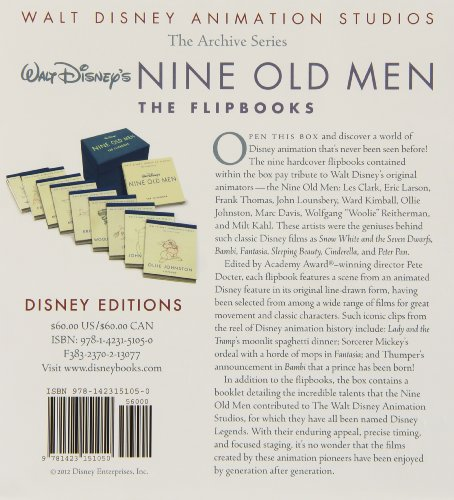Walt Disney Animation Studios The Archive Series Walt Disney's Nine Old Men: The Flipbooks