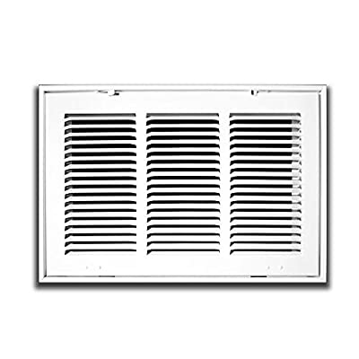 """25"""" X 16 Steel Return Air Filter Grille for 1"""" Filter - Fixed Hinged - ceiling Recommended - HVAC DUCT COVER - Flat Stamped Face - White"""