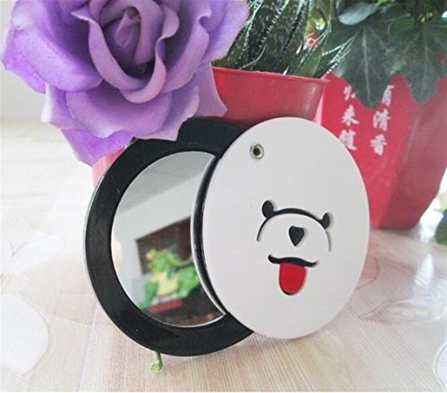 KEANER Women's Accessories Cute Mirror Mini Round Cartoon Bear Pattern Small Glass Mirrors Circles for Crafts Decoration Cosmetic Accessory by KEANER
