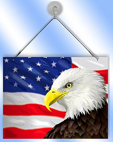 (American Eagle Flag Sun Catcher from Redeye Laserworks)