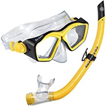 U.S. Divers Icon Mask and Airent Snorkel, Yellow