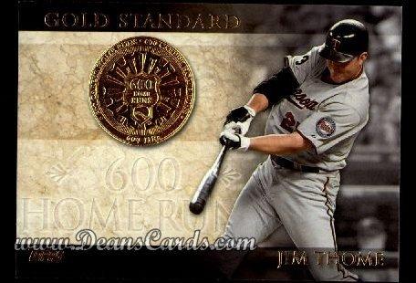 2012 Topps Gold Standard # 17 GS 600 Home Runs Jim Thome Minnesota Twins (Baseball Card) Dean's Cards 8 - NM/MT Twins
