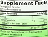 Natures Way Dandelion Root; 525 mg Dandelion Root per serving; Non-GMO Project Verified; Gluten Free;Vegetarian;180 Vegetarian Capsules
