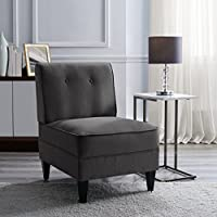 Serta UPH10023B Copenhagen Slipper Chair, Accent, Charcoal
