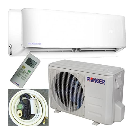PIONEER Air Conditioner Inverter+ Ductless Wall Mount Mini Split System Air Conditioner & Heat Pump Full Set 2 Ultra high efficiency inverter+ ductless mini split heat pump system Cooling capacity: 9, 000 BTU/H with 17.0 SEER efficiency Heating capacity: 9, 500 BTU/H with 9.0 hspf efficiency