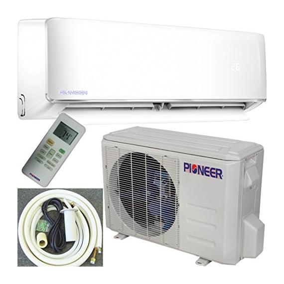 PIONEER Air Conditioner Pioneer Mini Split Minisplit Heatpump 9000 BTU-110/120 V 2 <p>Ultra high efficiency inverter+ ductless mini split heat pump system Cooling capacity: 9, 000 BTU/H with 17.0 SEER efficiency Heating capacity: 9, 500 BTU/H with 9.0 hspf efficiency Voltage: 110~120 VAC, 60 hertz (standard household power, l-n-g) Please see the active links on this page for full specks, manuals, etc</p>