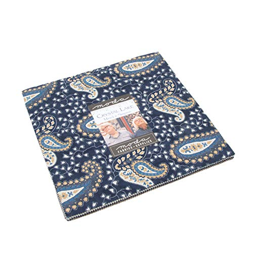 Crystal Lake Layer Cake, 42-10 inch Precut Fabric Quilt Squares by Minick & Simpson by MODA