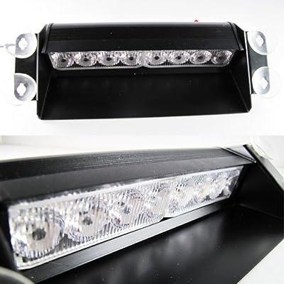 DIYAH 8 LED Warning Caution Car Van Truck Emergency Strobe Light Lamp For Interior Roof Dash Windshield (Blue): Automotive