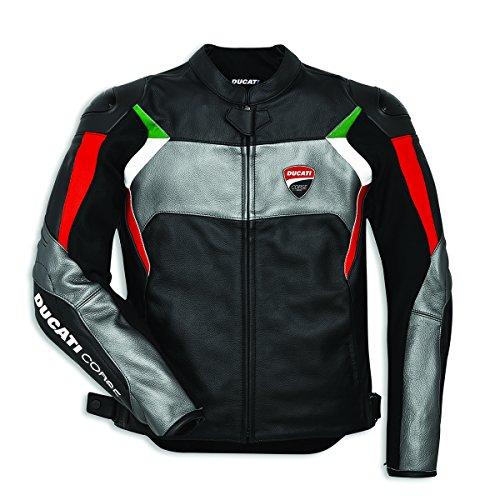 Ducati Corse C3 Leather Jacket - Black & Grey - Size 56