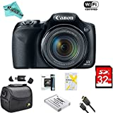 : Canon Powershot SX530 HS 16MP Wi-Fi Super-Zoom Digital Camera 50x Optical Zoom Ultimate Bundle Deluxe Camera Bag, 32GB Memory Cards, Extra Battery, Tripod, Card Reader, HDMI Cable, LD Cloth & More