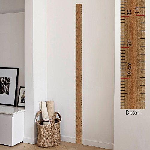 Growth Chart Wall Sticker - Amaonm Removable Vinyl Growth Chart Kit Kids DIY Height Ruler Large Measuring Tape Sticker Number Decal Wall Stickers Murals Children Rooms art Decor Nursery Room Classroom Decoration Decals