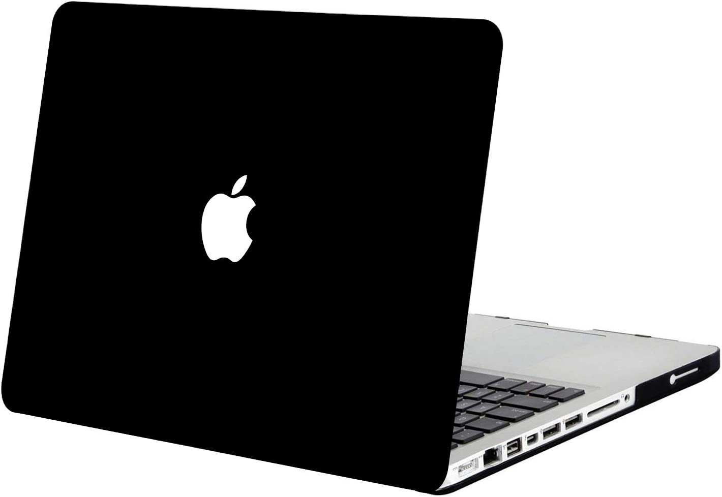 MOSISO Plastic Hard Shell Case Cover Only Compatible with Old Version MacBook Pro 13 Inch (Model: A1278, with CD-ROM), Release Early 2012/2011/2010/2009/2008, Black