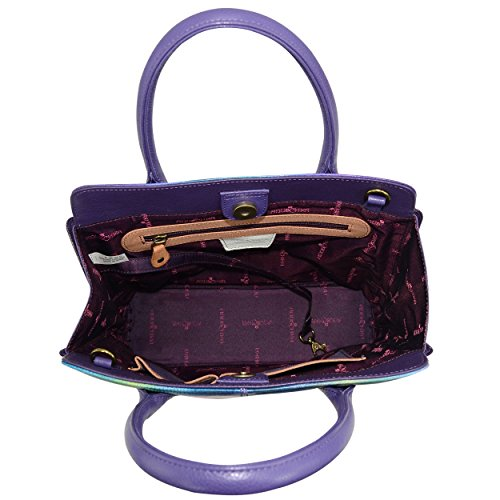 Anuschka Hand Painted Designer Leather Handbag-Christmas gifts for women-Expandable Leather Satchel (Magnolia Melody 551 MGM) by Anna by Anuschka (Image #2)