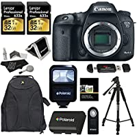 Canon EOS 7D Mark II Digital SLR Camera Body + Lexar Professional 633x 32GB U3 (2 Pack) + Polaroid Deluxe Accessory Kit + Polaroid Tripod + Battery + Polaroid Slave Flash + Ritz Gear Card Reader Benefits Review Image