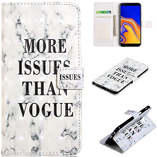 XYX [Kickstand][Card Slots][Magnetic Closure] Premium 3D Print PU Leather Wallet Flip Protective Case Cover for iPhone 6 Plus/iPhone 6S Plus, More Issues Than Vogue