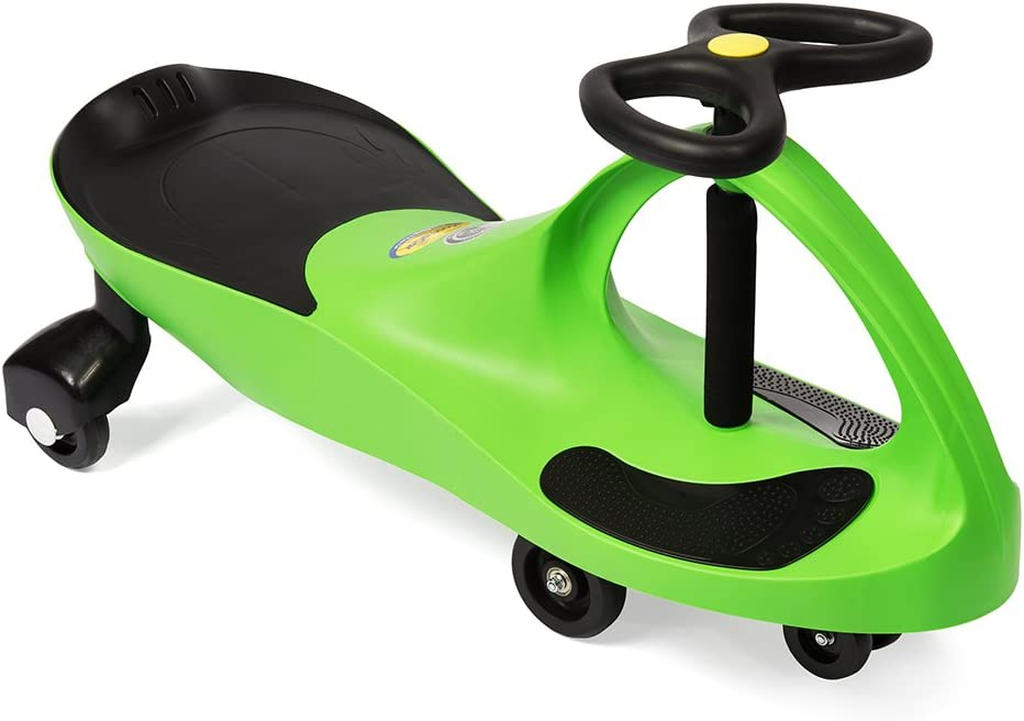 B00DATQONA The Original PlasmaCar by PlaSmart – Lime – Ride On Toy, Ages 3 yrs and Up, No batteries, gears, or pedals, Twist, Turn, Wiggle for endless fun 51ZWRHUfweL