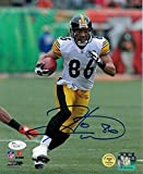 Hines Ward Signed Photograph - white Solo 8x10 - JSA Certified - Autographed NFL Photos