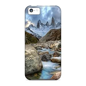 Hot Ovnfxoh3286seIpP Case Cover Protector For Iphone 5c- Amazing Mountain River In Argentina Hdr