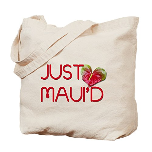 CafePress - Just Maui'd - Natural Canvas Tote Bag, Cloth Shopping Bag by CafePress
