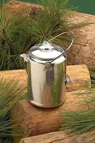 WallEc(TM) Texsport 13180 Aluminum Nine (9) Cup Camping Percolator