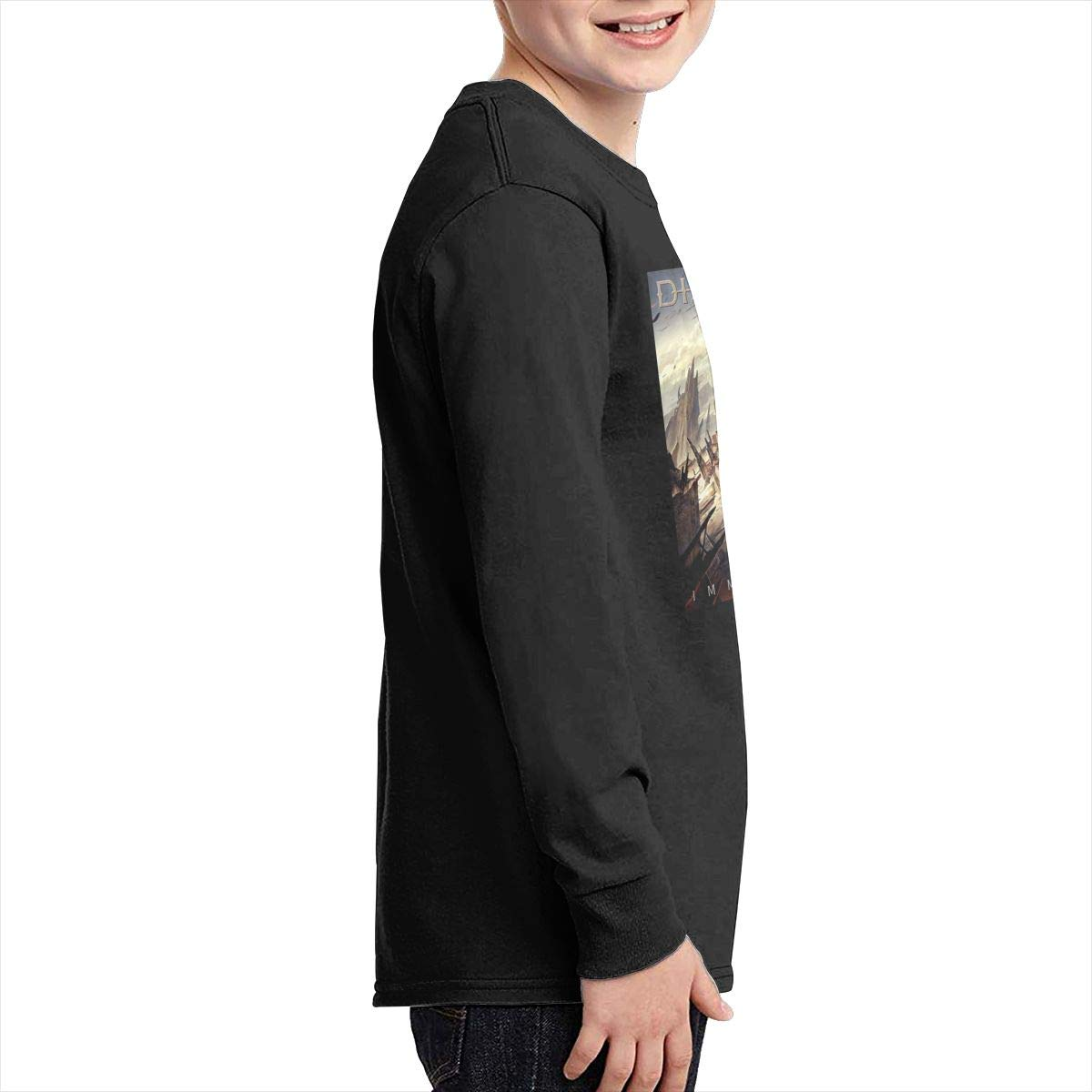 MichaelHazzard Disturbed Tour 2019 Youth Breathable Long Sleeve Crewneck Tee T-Shirt for Boys and Girls