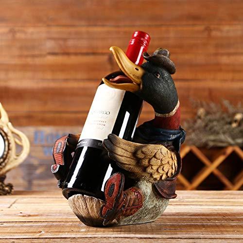 Creative Wine Rack, North American Duck Wine Rack Wine Rack - Suitable for Bars, Wine Cellars, Basements, Cabinets, Pantry, Etc.